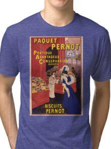 Artist Posters Paquet Pernot Biscuits Pernot Pratique avantageux conservation assurée L Cappiello 0346 (2) Tri-blend T-Shirt