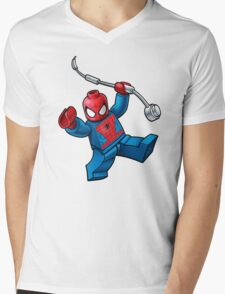 Lego Spidey Mens V-Neck T-Shirt