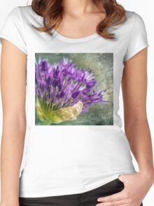 Allium Blossoms Women's Fitted Scoop T-Shirt