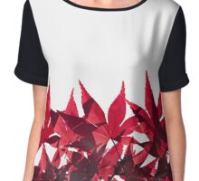 Red Maple Leaves - Oh Canada! Chiffon Top