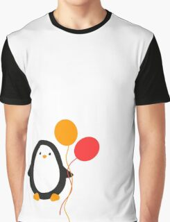 Penguin with balloons Graphic T-Shirt