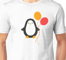 Penguin with balloons Unisex T-Shirt