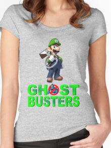 Luigi the Ghostbuster Women's Fitted Scoop T-Shirt