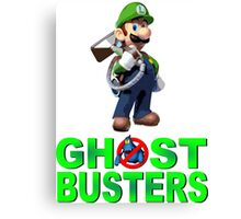 Luigi the Ghostbuster Canvas Print