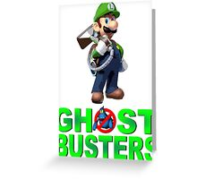 Luigi the Ghostbuster Greeting Card