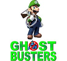 Luigi the Ghostbuster Photographic Print