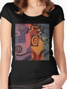 Fabric Abstract Women's Fitted Scoop T-Shirt