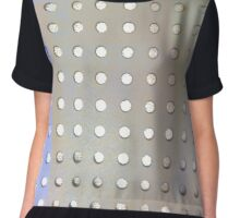 Perforated knit Chiffon Top