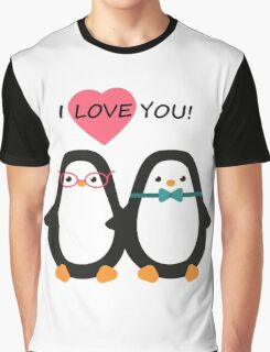 Love the penguins. Cute animals. Graphic T-Shirt