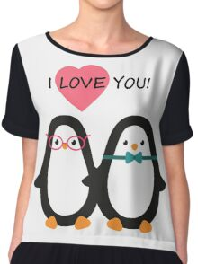 Love the penguins. Cute animals. Chiffon Top