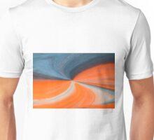 Orange And Blue Art Unisex T-Shirt