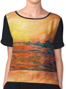 Sunset Departure by Heather Holland Chiffon Top