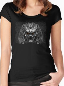 Aztec Aliens warrior face iPhone 4 4s 5 5c 6, pillow case, mugs and tshirt Women's Fitted Scoop T-Shirt