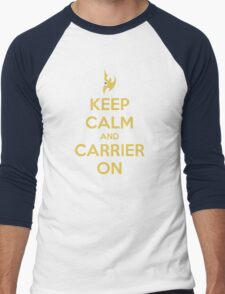 Keep Calm And Carrier On Men's Baseball ¾ T-Shirt