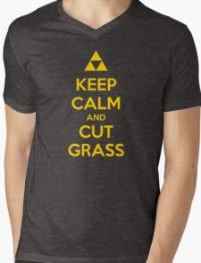 Keep Calm and Cut Grass Mens V-Neck T-Shirt