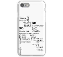 Shakespeare quote-A Midsummer Night's Dream iPhone Case/Skin
