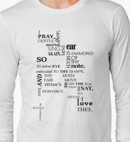 Shakespeare quote-A Midsummer Night's Dream Long Sleeve T-Shirt