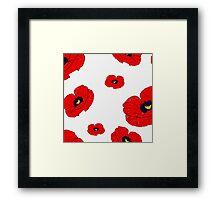 Poppy White Framed Print
