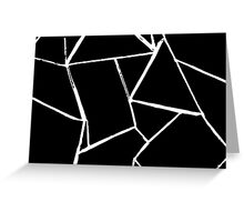 Web Black and White card Greeting Card