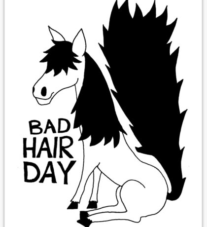 Bad Hair Day Horse Sticker