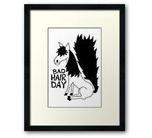 Bad Hair Day Horse Framed Print