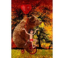 The Honey Bear with Geek Boy iPhone 4 4s 5 5c 6, pillow case, mugs and tshirt  Photographic Print