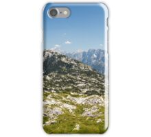 mountain peak in a summer day iPhone Case/Skin