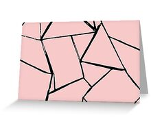 Web Pink and Black card Greeting Card