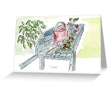 You just gotta love garden tools! Greeting Card