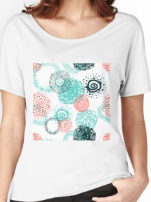 circles abstract seamless pattern  Women's Relaxed Fit T-Shirt