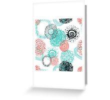 circles abstract seamless pattern  Greeting Card