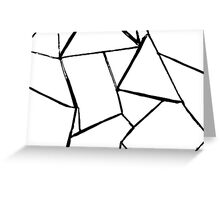 Web in white and black card Greeting Card