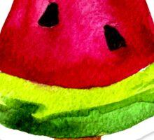 Ice cream watermelon slice. Watercolor. Sticker
