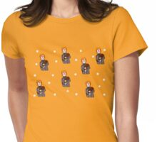 dotty log lady  Womens Fitted T-Shirt