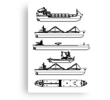 Commercial Ships (pixelated) Canvas Print