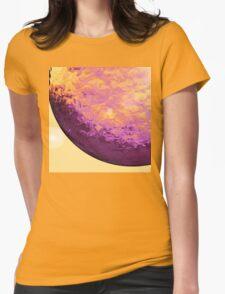 Purple Raindrop Womens Fitted T-Shirt