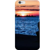 evening on the shoreline of Trieste iPhone Case/Skin