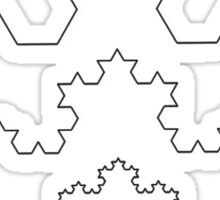 The Koch Curve Sticker