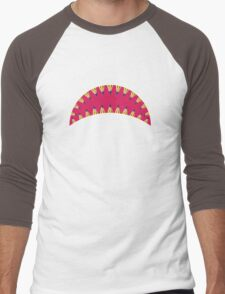 Pencil toothed shark mouth Men's Baseball ¾ T-Shirt