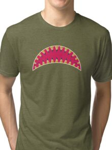 Pencil toothed shark mouth Tri-blend T-Shirt