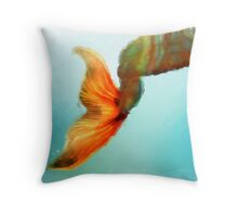 Abstract Mermaid Tail Throw Pillow