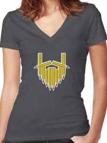 Pencil Beard Women's Fitted V-Neck T-Shirt