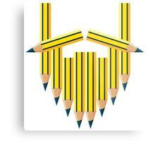 Pencil Beard Metal Print