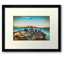 Nautical equipment in the port of Trieste Framed Print