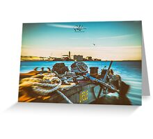 Nautical equipment in the port of Trieste Greeting Card