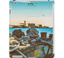 Nautical equipment in the port of Trieste iPad Case/Skin