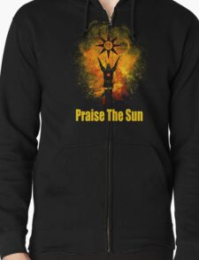 Praise The Sun Black Zipped Hoodie
