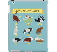 Cows are awesome! iPad Case/Skin