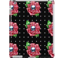 Skull Rose black pattern iPad Case/Skin