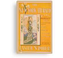 Artist Posters The New York Herald Sunday March 22nd 1896 A newspaper marvel Easter number 0862 Canvas Print